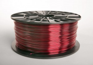 ABS-T filament 2,90 mm, transparent red, spool 1 kg
