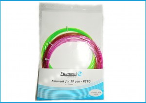 PET filament 1,75 mm, brown, green, purple