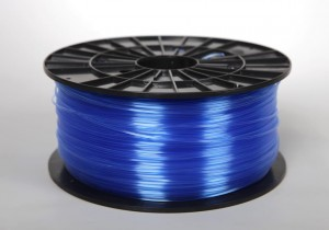 ABS-T filament 2,90 mm, transparent blue, spool 1 kg