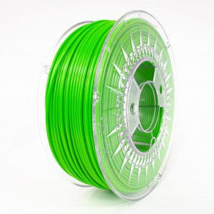 Filament PET 2,85 mm zielony jasny - 1 kg filamentu na szpuli