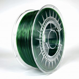 Filament PET 1,75 mm transparentny zielony ciemny, 1 kg