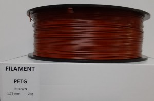PET filament, 1,75 mm, brown, spool 2 kg