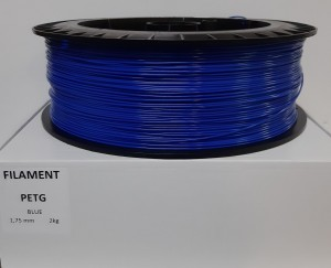 PET filament, 1,75 mm, blue, spool 2 kg