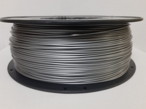 PLA filament 1,75 mm, silver, spool 1 kg