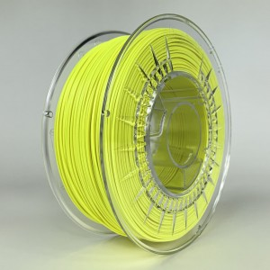 PLA matt filament 1,75 mm, yellow, spool 1 kg