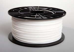 ABS filament 1,75 mm, white, spool 1 kg