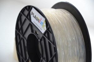 Rubber filament 3,00 mm, crystal, spool 1 kg