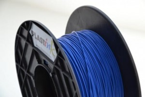 Rubber filament 3,00 mm, blue, spool 0,5 kg