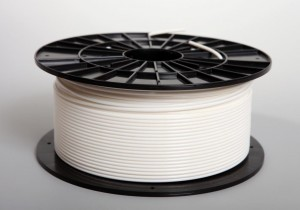 ABS filament 2,90 mm, white, spool 1 kg