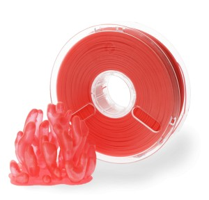 PLA PolyPlus filament 3,00 mm, translucent red, spool 0,75 kg