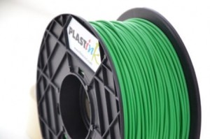 Rubber filament 3,00 mm, green, spool 1 kg