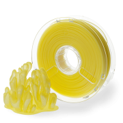 PLA PolyPlus filament 3,00 mm, translucent yellow, spool 0,75 kg