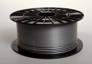PLA filament 2,90 mm, silver, spool 1 kg