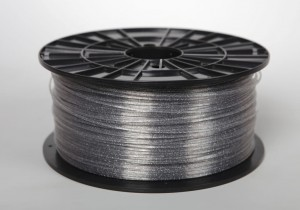 ABS-T filament 2,90 mm, glass-clear with glitter, spool 1 kg