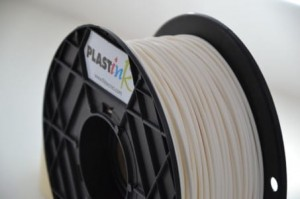 Rubber filament 3,00 mm, white, spool 1 kg