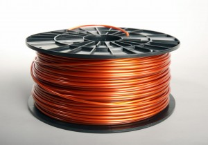 ABS-T filament 2,90 mm, transparent copper, spool 1 kg