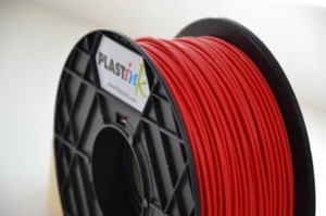 Rubber filament 3,00 mm, red, spool 1 kg
