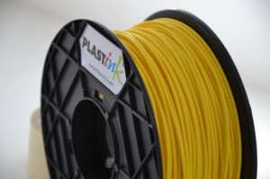 Rubber filament 3,00 mm, yellow, spool 1 kg