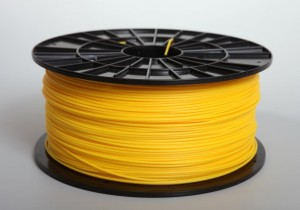 ABS filament 1,75 mm, yellow, spool 1 kg.