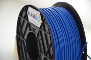 Rubber filament 3,00 mm, blue, spool 1 kg