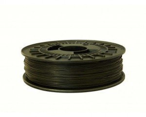 Rubber filament TPE32D 1,75 mm, black, spool 0,5 kg