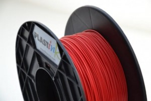 Rubber filament 3,00 mm, red, spool 0,5 kg