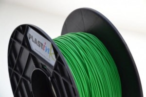 Rubber filament 3,00 mm, green, spool 0,5 kg