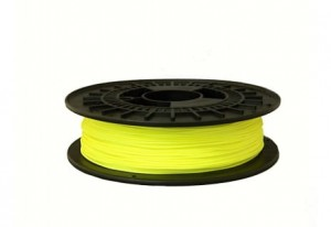 Rubber filament TPE32D 1,75 mm, fluorescence yellow, spool 0,5 kg