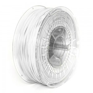 Rubber filament 1,75 mm, white, spool 1 kg