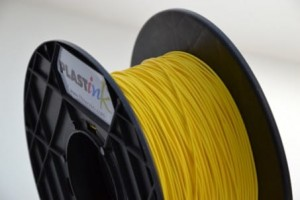 Rubber filament 3,00 mm, yellow, spool 0,5 kg