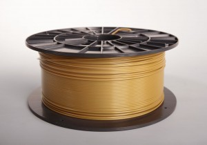 PLA filament 2,90 mm, gold, spool 1 kg